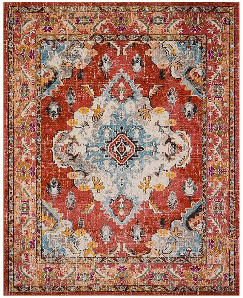 Safavieh Monaco Orange and Light Blue 12' x 18' Area Rug
