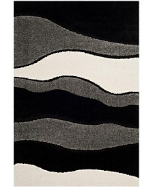 Safavieh Shag Gray and Black 4' x 6' Area Rug