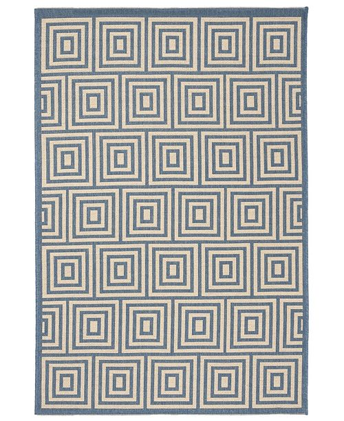 "Safavieh Linden Cream and Blue 5'1"" x 7'6"" Area Rug"