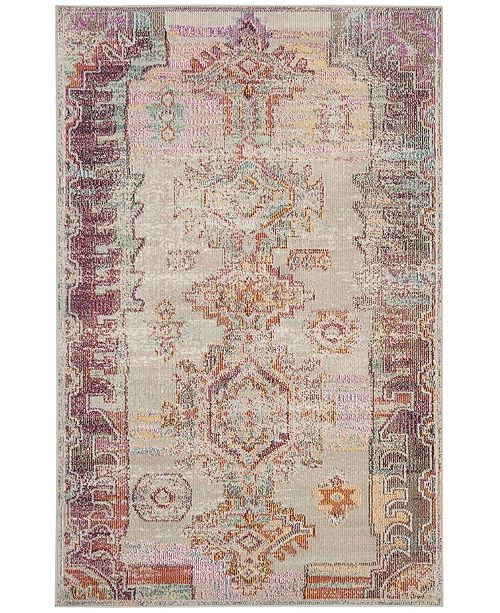 Safavieh Crystal Light Gray and Purple 10' x 14' Area Rug
