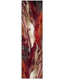 "Safavieh Glacier Red and Multi 2'2"" x 10' Runner Area Rug"