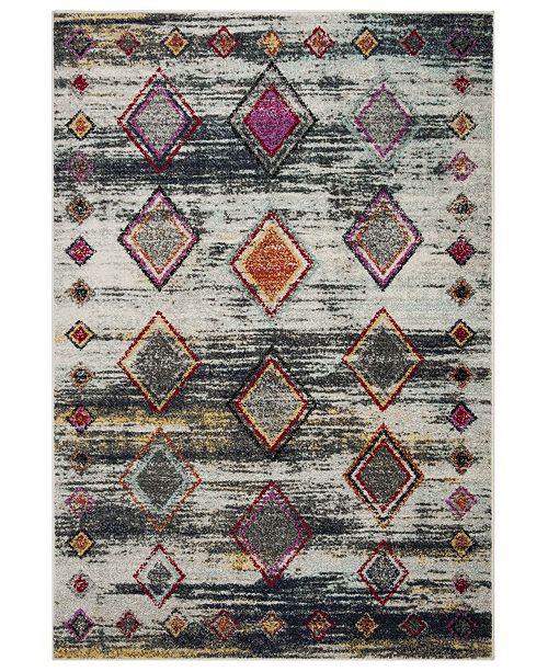 Safavieh Adirondack Light Gray and Red 4' x 6' Area Rug