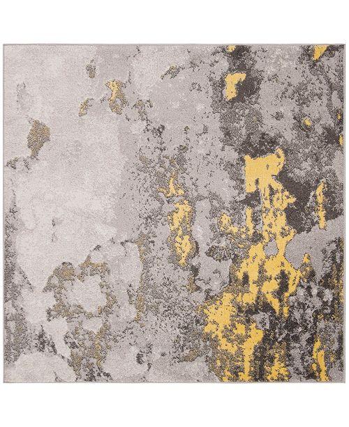 Safavieh Adirondack Gray and Yellow 4' x 4' Square Area Rug