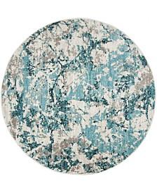 Safavieh Skyler Blue and Ivory 4' x 4' Round Area Rug