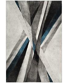 Safavieh Hollywood Gray and Teal 11' x 15' Sisal Weave Area Rug
