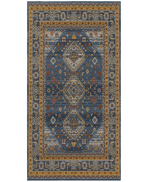 Safavieh Classic Vintage Blue and Gold 5' x 8' Area Rug