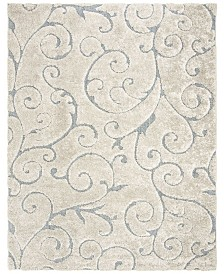 "Safavieh Shag Cream and Light Blue 8'6"" x 12' Area Rug"