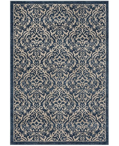 Safavieh Brentwood Navy and Creme 4' x 6' Area Rug