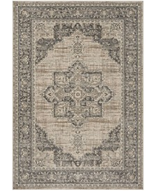 Brentwood Cream and Gray 4' x 6' Area Rug