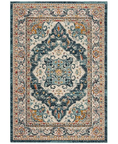 Safavieh Phoenix Ivory and Blue 6' x 9' Area Rug