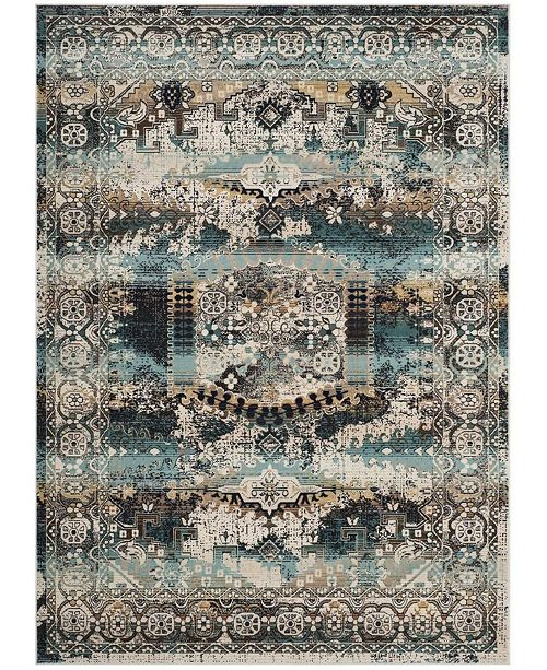 Safavieh Baldwin Ivory and Teal 10' x 14' Sisal Weave Area Rug