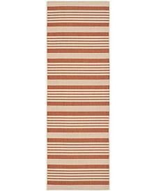 "Safavieh Courtyard Terracotta and Beige 2'3"" x 12' Sisal Weave Runner Area Rug"