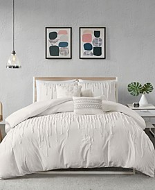 Paloma King/Cal King 5 Piece Cotton Duvet Cover Set