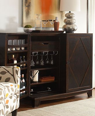Bastille Bar Cabinet Furniture Macy S