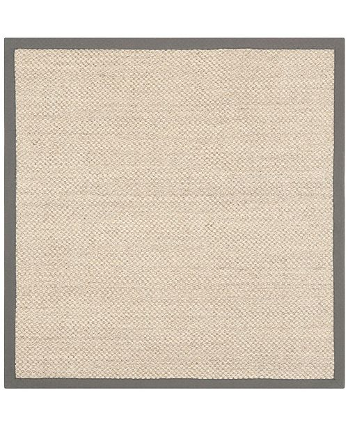Safavieh Natural Fiber Marble and Gray 7' x 7' Sisal Weave Square Area Rug