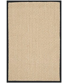 Natural Fiber Maize and Black 3' x 5' Sisal Weave Rug