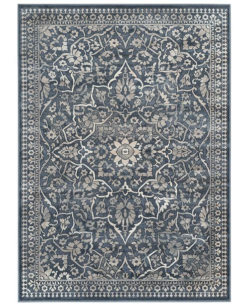 "Safavieh Vintage Blue and Light Gray 4' x 5'7"" Area Rug"
