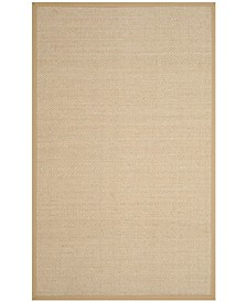 Natural Fiber Natural and Beige 4' x 6' Sisal Weave Area Rug