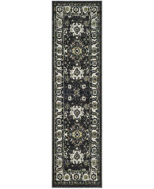 "Safavieh Vintage Hamadan Dark Grey and Ivory 2'2"" x 8' Runner Area Rug"