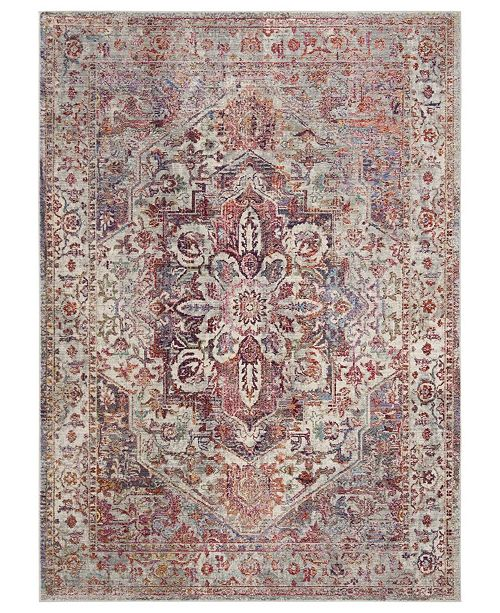 Safavieh Valencia Ivory and Red 8' x 10' Area Rug