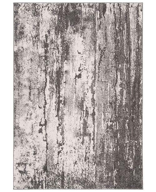 "Safavieh Spirit Gray and Dark Gray 6'7"" x 6'7"" Square Area Rug"