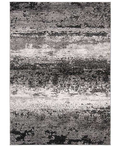 "Safavieh Spirit Charcoal and Light Gray 6'7"" x 6'7"" Round Area Rug"