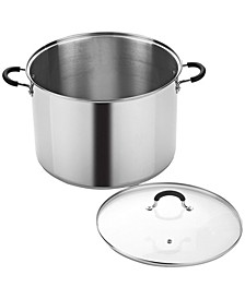 20 Quart Stainless Steel Stockpot Saucepot with Lid
