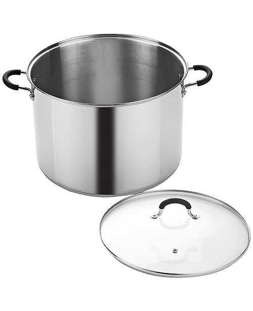 Cook N Home 20 Quart Stainless Steel Stockpot Saucepot with Lid