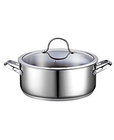 7-Quart Classic Stainless Steel Dutch Oven Casserole Stockpot with Lid