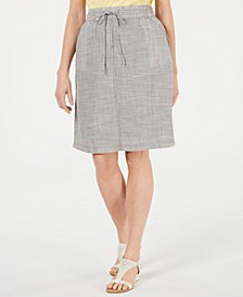 Cotton Drawstring-Waist Skirt, Created for Macy's