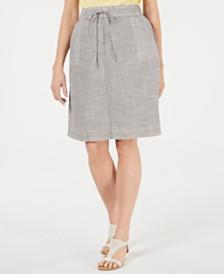 Karen Scott Cotton Drawstring-Waist Skirt, Created for Macy's