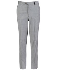 Big Boys Classic-Fit Stretch Windowpane Suit Pants