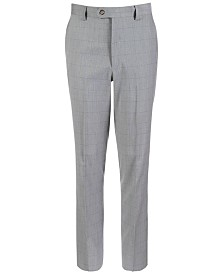 Lauren Ralph Lauren Big Boys Classic-Fit Stretch Windowpane Suit Pants