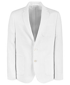 Lauren Ralph Lauren Big Boys Classic-Fit White Linen Suit Jacket