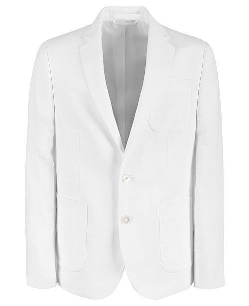 Lauren Ralph Lauren Big Boys Classic-Fit White Linen Suit Jacket