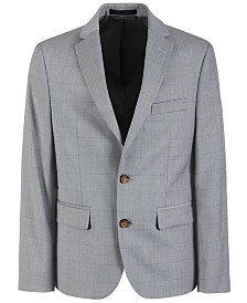 Lauren Ralph Lauren Big Boys Classic-Fit Stretch Windowpane Suit Jacket
