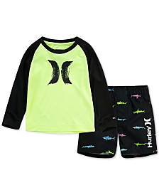 Hurley Baby Boys 2-Pc. Dri-FIT Swim Set