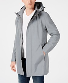 Calvin Klein Men's Slim-Fit Reflective Raincoat