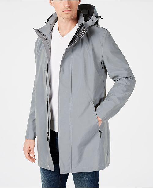 Calvin Klein Men's Slim-Fit Reflective Raincoat