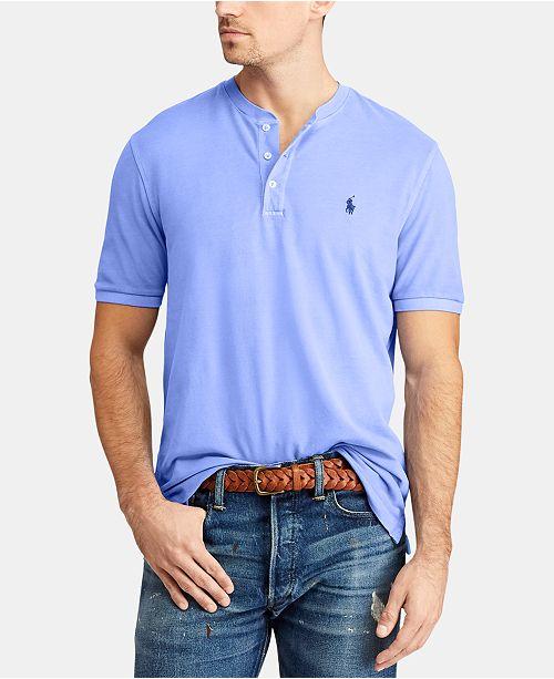 22a48946a ... T-Shirt; Polo Ralph Lauren Men's Big & Tall Featherweight Mesh Henley  ...