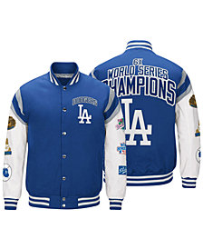 G-III Sports Men's Los Angeles Dodgers Home Team Commemorative Varsity Jacket