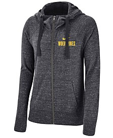 c2cfe28429a8 Nike Women s Michigan Wolverines Gym Vintage Full-Zip Hoodie