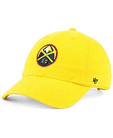 '47 Brand Denver Nuggets CLEAN UP Strapback Cap