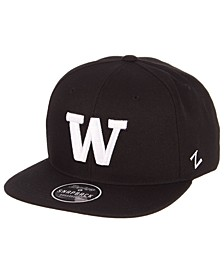 Washington Huskies Black & White Snapback Cap