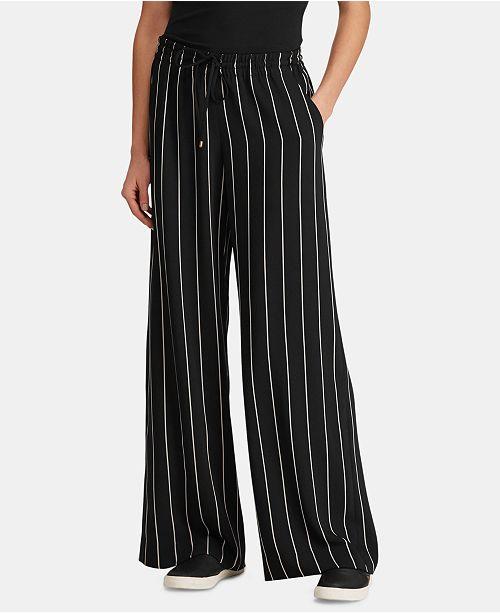 c13e3a9bd4 Lauren Ralph Lauren Striped Wide-Leg Pants & Reviews - Pants ...
