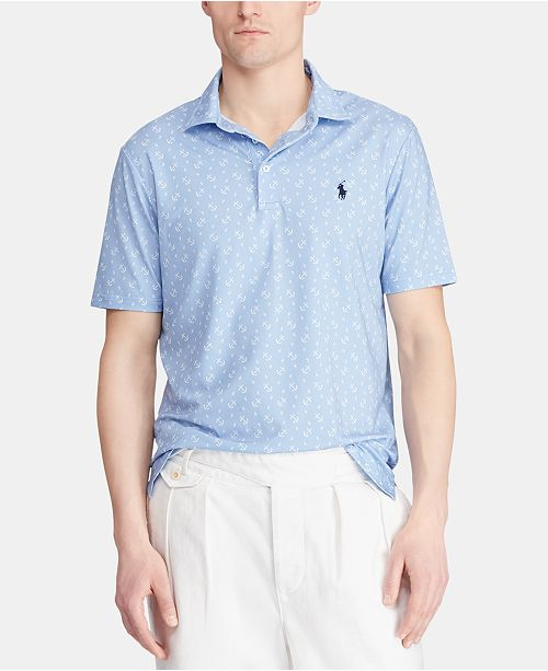 Polo Ralph Lauren Men's Classic Fit Micro Print Performance Polo