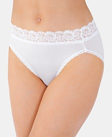 Women's Flattering Lace Hi-Cut Panty Underwear 13280, also available in extended sizes