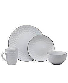 Medici Pearl 16 Piece Dinnerware Set, Pearl