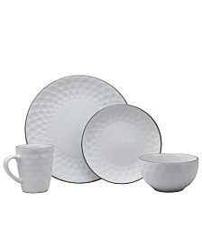 Elama Medici Pearl 16 Piece Dinnerware Set, Pearl