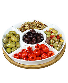 "Elama Signature 12 1/4"" 6 Piece Lazy Susan Appetizer"